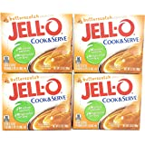 Jell-O, Cook & Serve, Pudding & Pie Filling, Butterscotch, 3.5oz Box (Pack of 4)