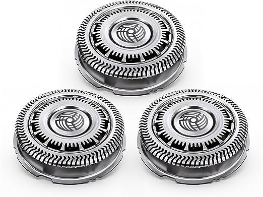 Philips Norelco SHAVER Series 9000 SH90/52 accesorio para maquina de afeitar Shaving head - Accesorio para máquina de afeitar (Shaving head, 3 cabezal(es), Plata): Amazon.es: Hogar