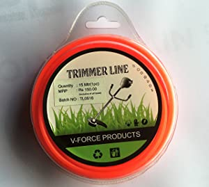 V-FORCE Brush Cutter Trimmer Line 15MTR - Round 3.0MM Blister (3 PCS Pack)