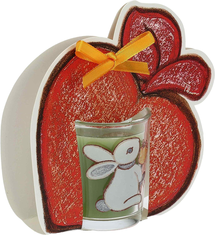 Linea Folk Magnolia 65 g Cera e Oli Essenziali 6 cm h Candela Linea Folk con Mela Bicchierino /ø 5,5 cm Magnolia THUN /®