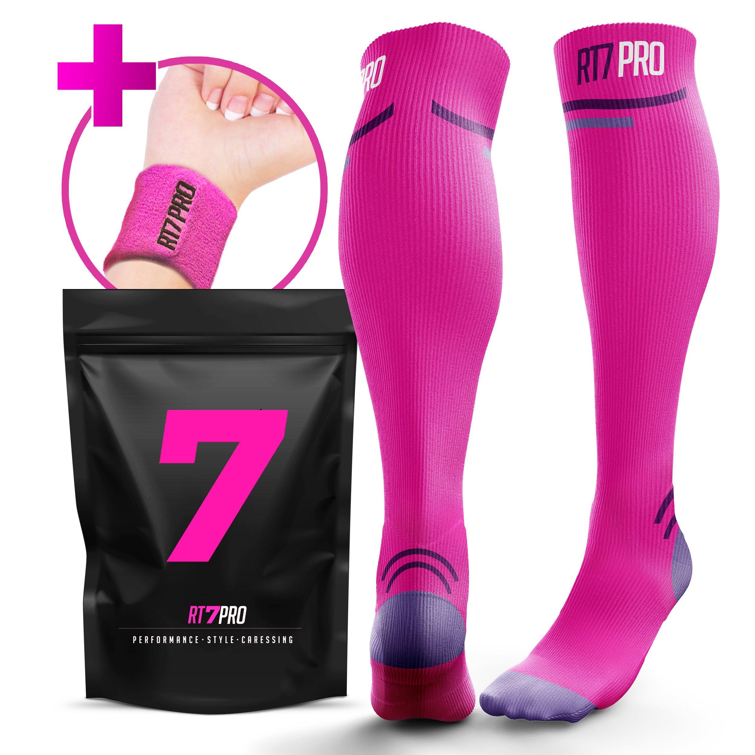 bf113e89fd Running Compression Socks - Pro Compression Socks for Women & Men - Knee  High Socks for