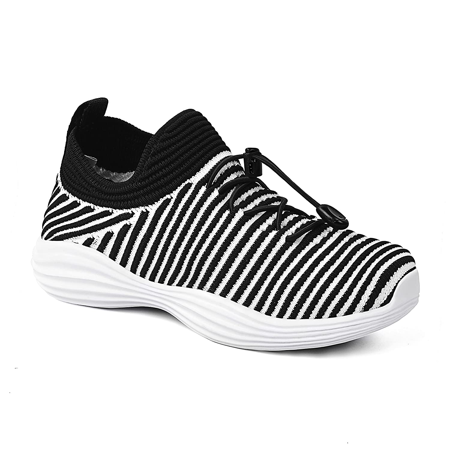 QANSI レディース B079HXMPYH 2.5 M US Little Kid Black/White903