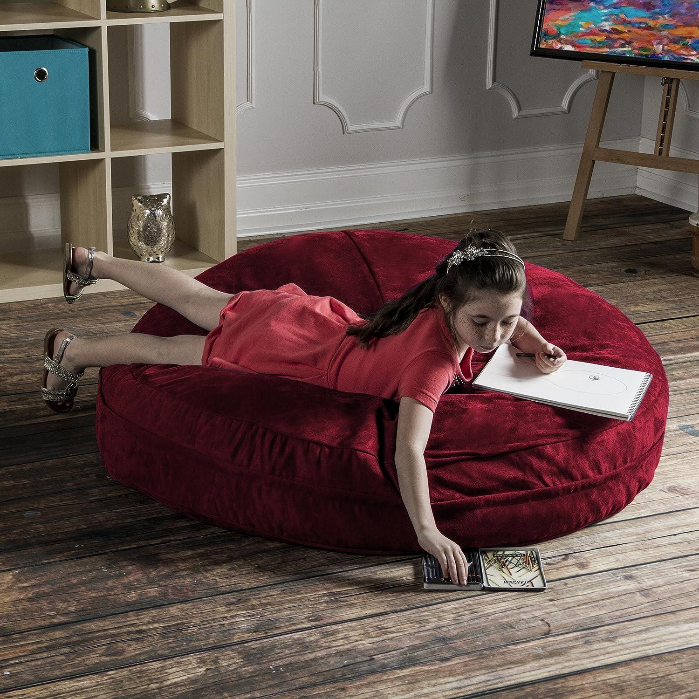 Amazon.com: Jaxx Cocoon 4 ft Puf de espuma, microsuede ...