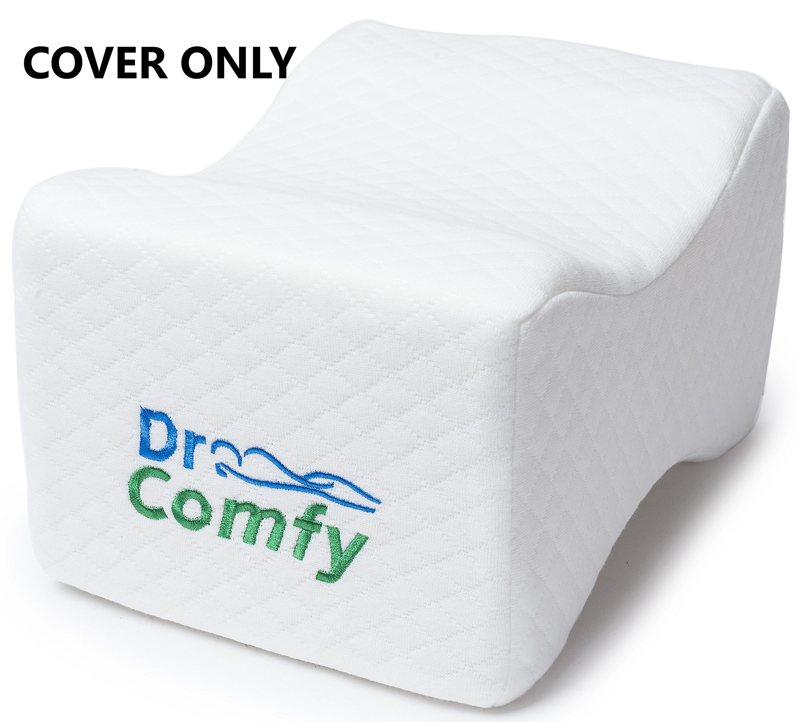 Dr. Comfy Knee Pillow Cover set- Pack Of 2 Replacement Pillow cases- Fits Knee Pillow. (REPLACEMENT COVER ONLY)