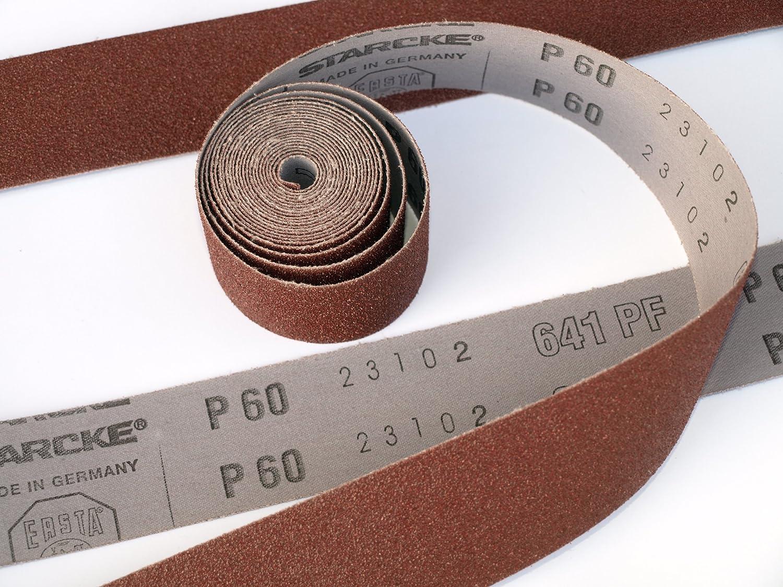 Rollo de tejido de lija grano 400 25 mm x 5000 mm Alta Calidad 5 M grano 400 rollo de taller, gamuza de flexible con rollo para lijado manual STARCKE ERSTA