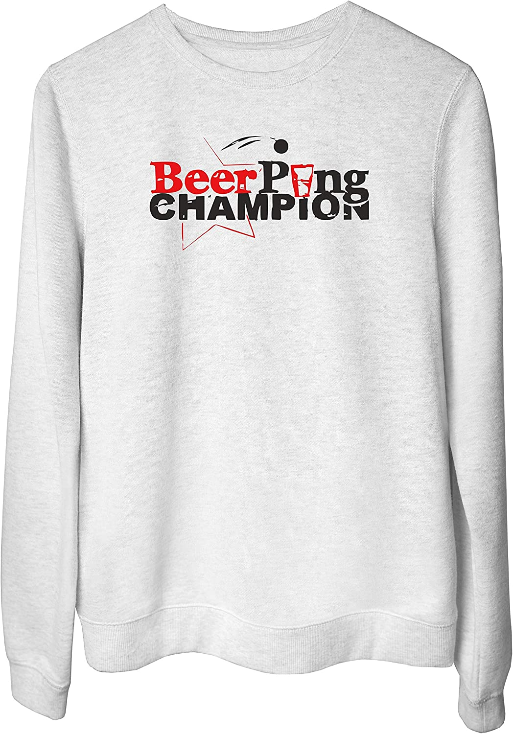 Felpa Girocollo Donna Bianco DEC0461 WTC0251 Beer Pong Champion Tshirt 1