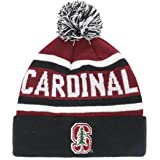 NCAA Men's Stanford Cardinal OTS Jasper Cuff Knit Cap with Pom, One Size, Team Color