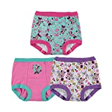 Disney Girls' Toddler 3-Pack, Aqua-White-Pink, 4T