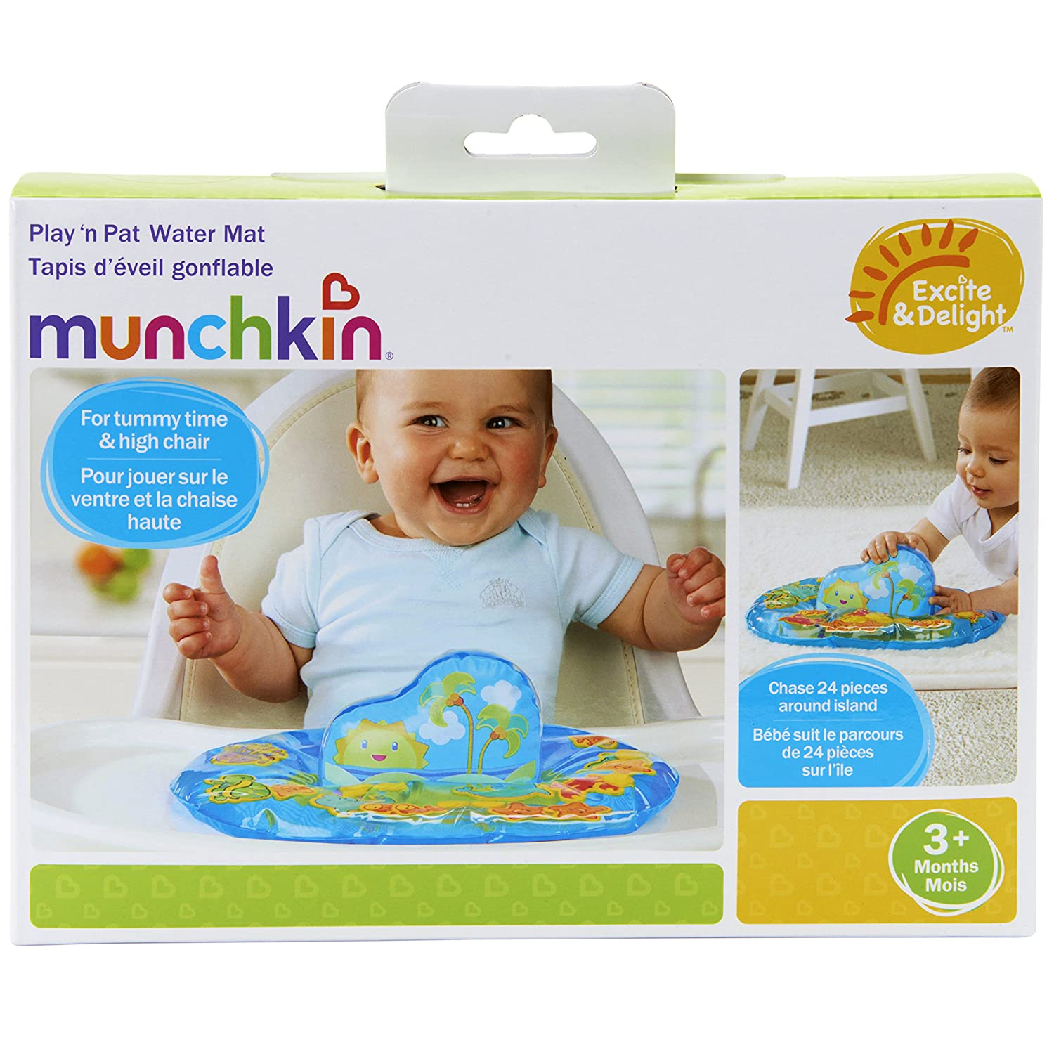 amazon com munchkin excite and delight play n pat water mat