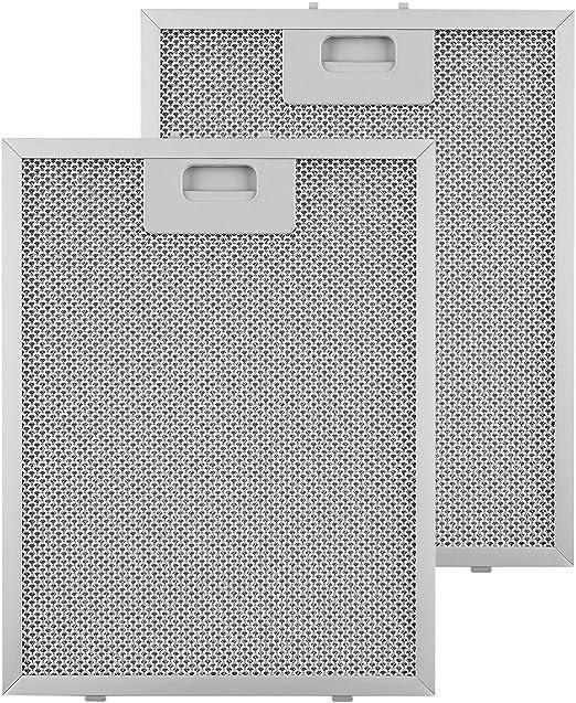 Klarstein Repuesto de Filtro de grasa de Aluminio - 24,4 x 31,3 cm, Adecuado para campanas extractoras Klarstein Santa Clara 10031995: Amazon.es: Hogar