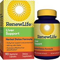 Renew Life - Liver Support Extra Care - Milk Thistle liver cleanse and detox supplement...
