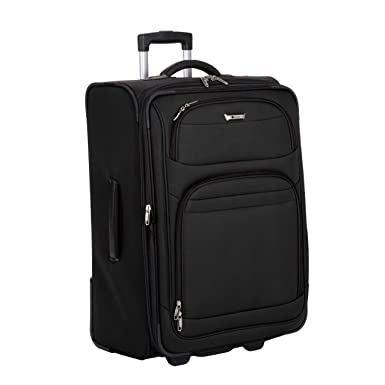 Amazon.com | Delsey Luggage Helium Quantum Durable Trolley, Black ...