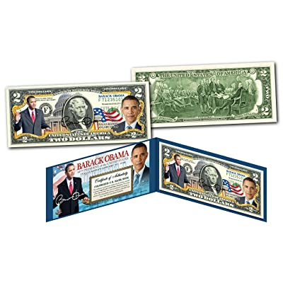 BARACK OBAMA Official *44th President* Genuine Legal Tender US $2 Bill w/Folio: Toys & Games