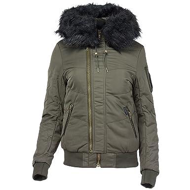 61b7c0ef73c8 khujo Damen Jacke Blanc Winterjacke Übergangsjacke mit Kapuze  Amazon.de   Bekleidung