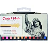 Conté à Paris Portrait Colour Carre Crayons (Pack of 12)