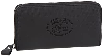 Lacoste Womens Women Small Leather Goods Wallets Black Schwarz (Black 000)  Size  19x10x2 61a6ac6f0d