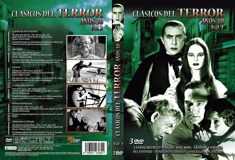 Amazon.com: Pack Clásicos del Terror Años 30 Vol. 2: La Máscara de Fu Manchú + King Kong + Satanás + La Marca del Vampiro + Muñecos Infernales + Esmeralda, ...