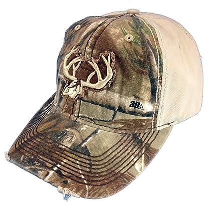 Amazon.com  Team Realtree Camo Cap Deer Logo Realtree Hat Camo Ball ... f26764b7337