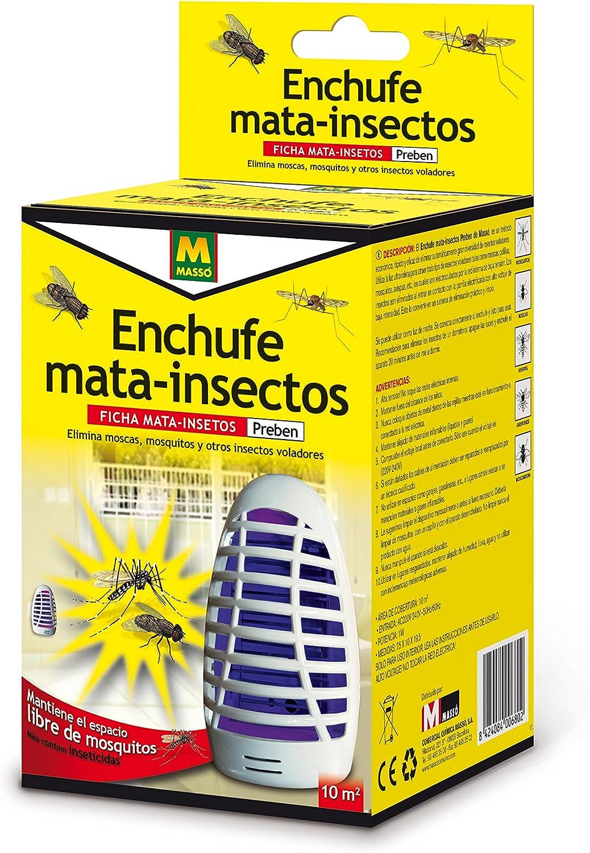 PREBEN 231409 Enchufe Mata Insectos eléctrico, Blanco, 9.6x18.7x10 ...