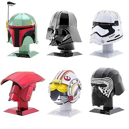 22d61582d Fascinations Metal Earth 3D Metal Model Kits Star Wars Helmet Set of 6 - Darth  Vader