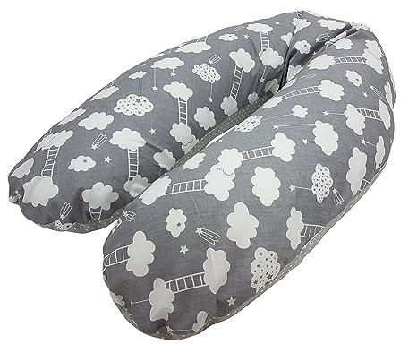 babymajawelt® Mini estrellas, EPS con microperlas relleno de bolas de embarazo almohada cojín para embarazo y lactancia con relleno de perlas (aprox. ...