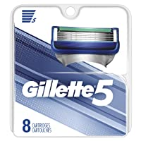 Deals on 8 Count Gillette5 Mens Razor Blade Refills