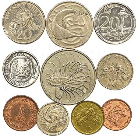 10 Old Coins From Singapore Collectible Coins From Southeast Asia Island Singaporean Coin Collection Lot Cents Perfect Choice For Your Coin Bank Coin Holders And Coin Album Coins Amazon Canada