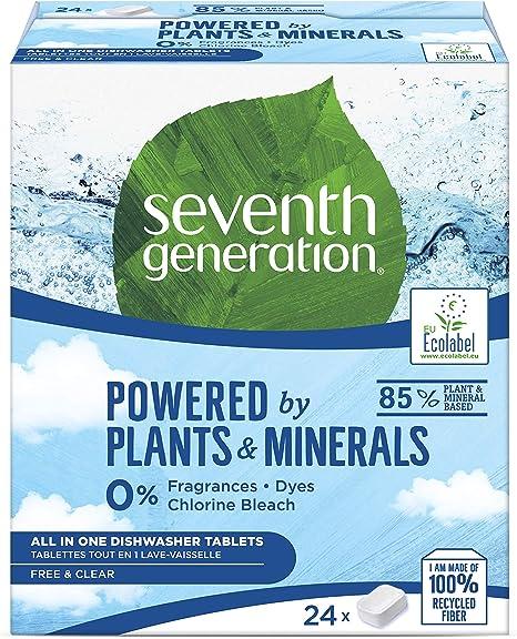 Seventh Generation - Free&Clear Pastillas ecólogicas Lavavajillas ...
