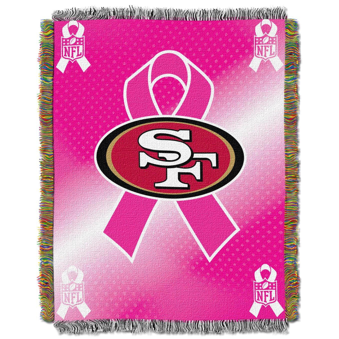 色々な NFL NFL Francisco San Francisco 49ers 49ers Breast Cancer Awarenessタペストリー B0088AMAUW, 気質アップ:228bdb89 --- arianechie.dominiotemporario.com