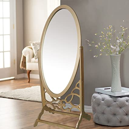 Amazon.com: Iconic Home Bowery Mirror Modern Free standing Spindle ...