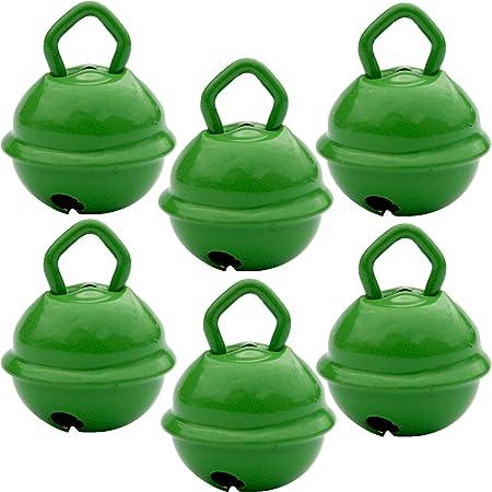 Cascabeles Verdes Pequeños (15mm x6 Campanillas de Bronce ...