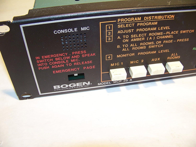 Bogen MCP35A Mcp35a Master Control Panel Accs: Audio Video Accessories And  Parts: Amazon.com: Industrial & Scientific