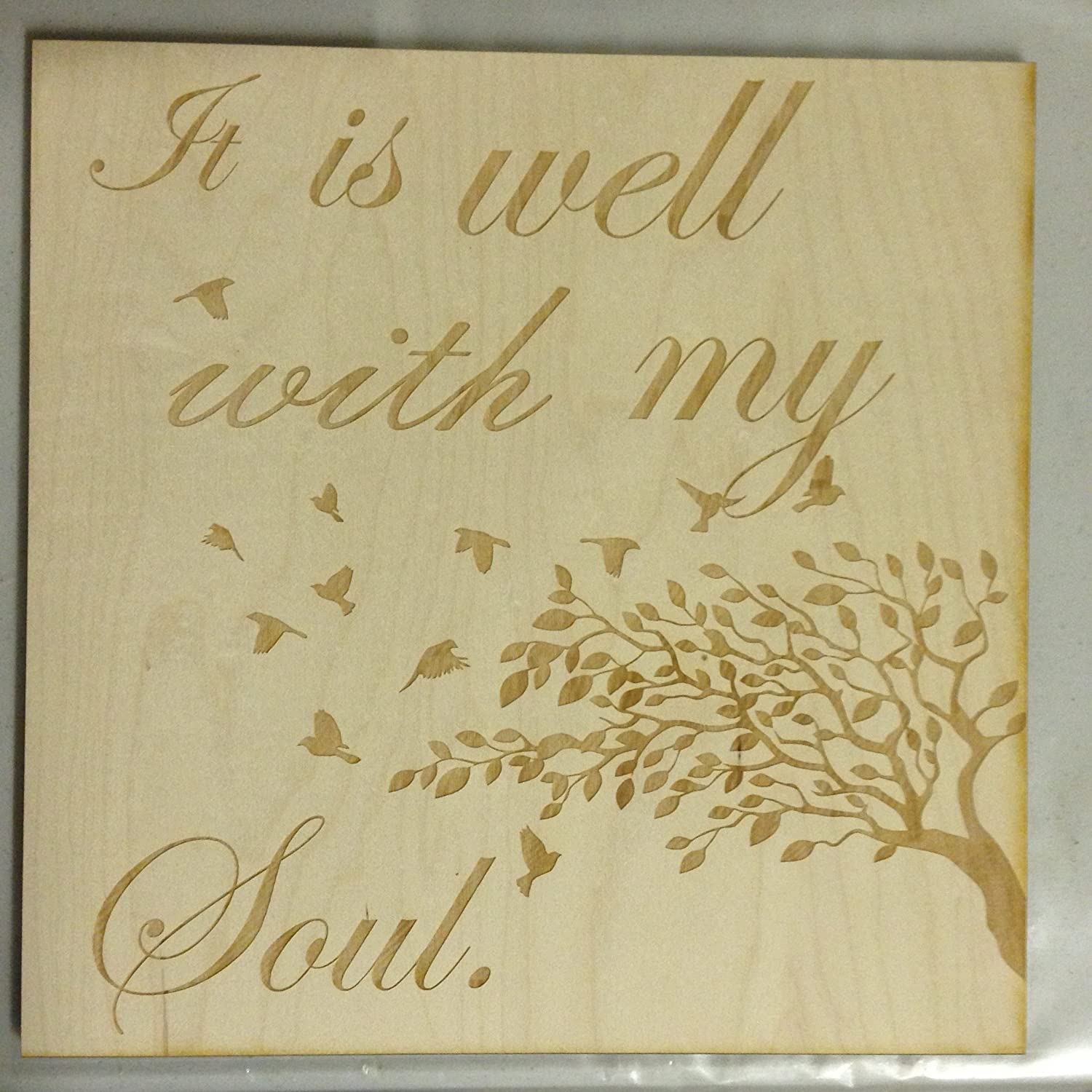 Amazon.com: It is Well with my Soul wall plaque Sign 11\