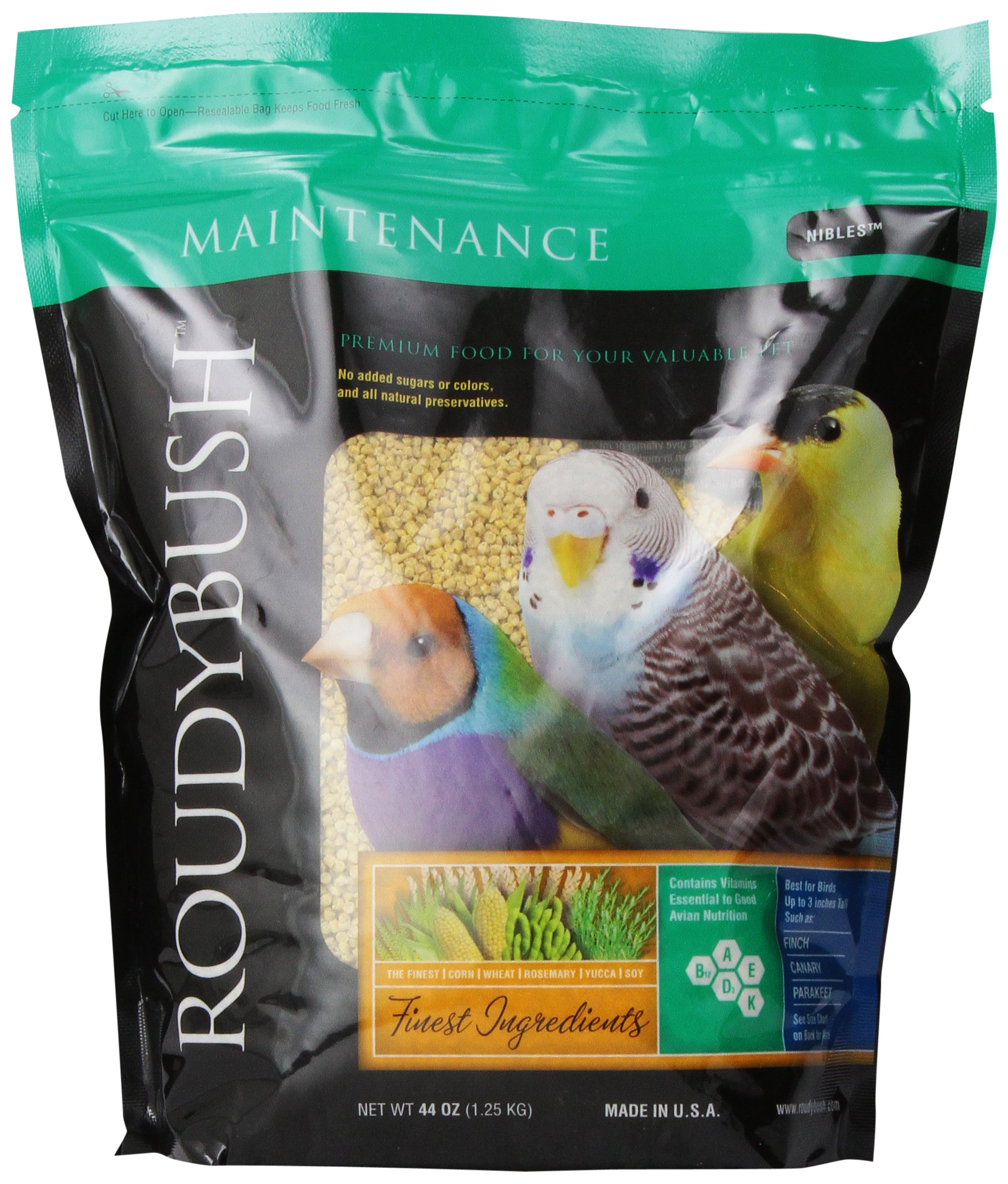 Roudybush Daily Maintenance Bird Food, Nibles, 44-Ounce by RoudyBush