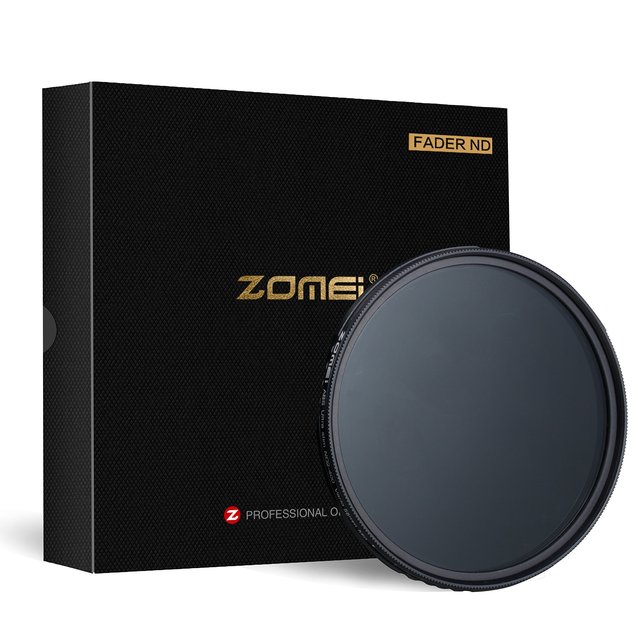 ZoMei 58mm Fader ND Variable Neutral Density Adjustable ND Filter ND2 to ND400 No X Pattern in The Middle of The Picture by ZoMei