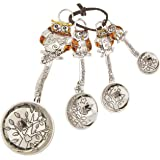 Ganz 4-Piece Set with Color, Owls Measuring Spoon, One Size, silver
