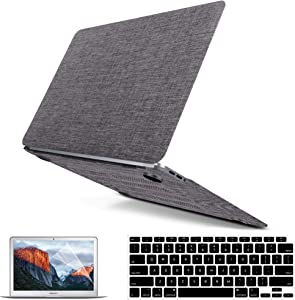 Mac Air 13 Inch Case 2020 2021 2019 2018 Release M1 A2337 A2179 A1932, Mac Air Case Laptop Cover, Fabric Hard Shell Case & Keyboard Cover & Screen Protector Compatible for Mac Air 13 Inch