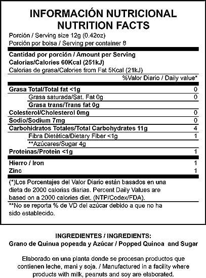 Amazon.com : Quinoa Pop (Natural, 100g)(GLUTEN-FREE) : Grocery & Gourmet Food