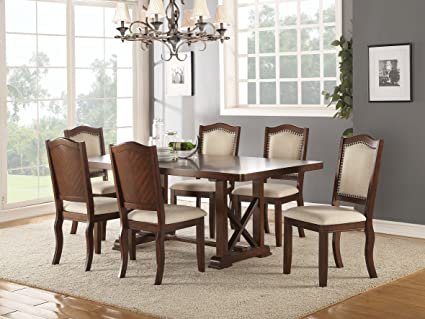Amazon.com - Esofastore Dining Room Formal Look Classic 7pc ...
