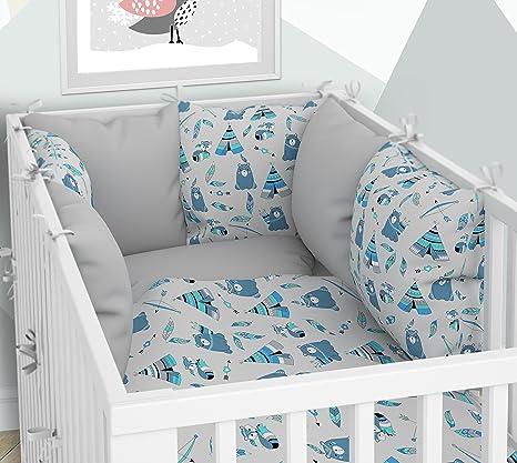 Ropa de cama para cuna y coj/ín fundas para la cuna 70 x 140 cm Seis cojines de terciopelo