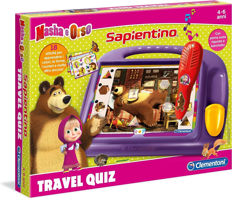 Clementoni Travel Quiz - Juego de viaje (versión italiana) Masha y el oso 11361 varios colores , color/modelo surtido