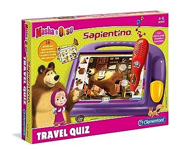 Clementoni Travel Quiz - Juego de viaje (versión italiana) Masha y el oso 11361