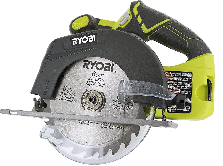 Ryobi P507 One+ 18V Lithium Ion Cordless 6 1/2 Inch 4,700 RPM Circular Saw w/ Blade