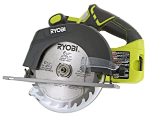 Ryobi P507 One+ 18V Lithium Ion Cordless 6 1/2 Inch 4,700 RPM Circular Saw w/ Blade (Battery Not Included, Power Tool Only)