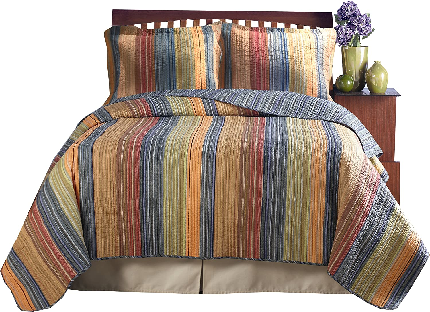 Amazon.com: Greenland Home Katy Twin Quilt Set: Home & Kitchen : twin quilt sets - Adamdwight.com