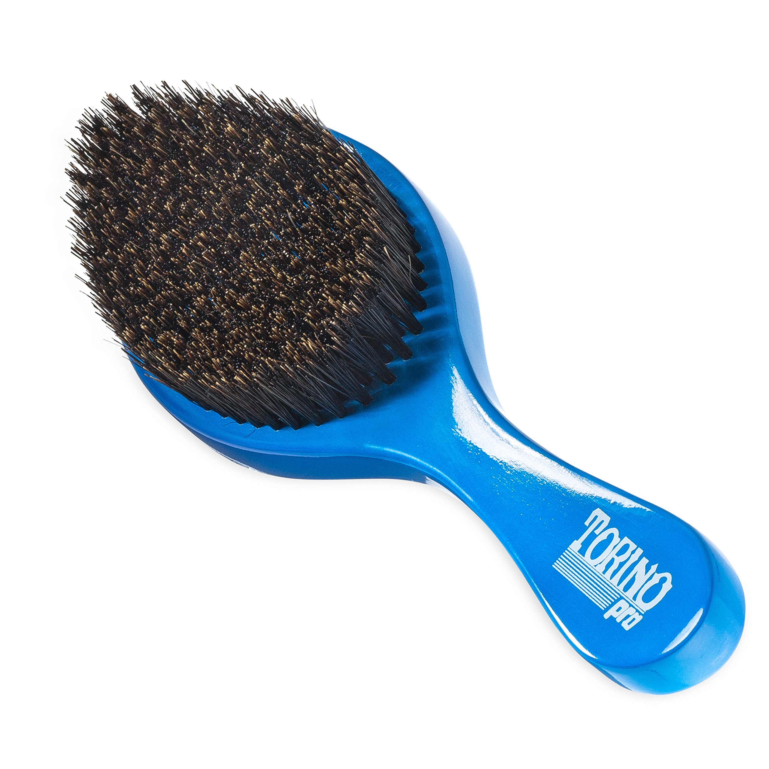 Torino Pro Wave brush #350 by Brush King - Medium Curve Waves Brush - Made with 100% Boar Bristles -True Texture Medium - All Purpose 360 Waves Brush by TORINO PRO WAVE BRUSHES BY BRUSH KING