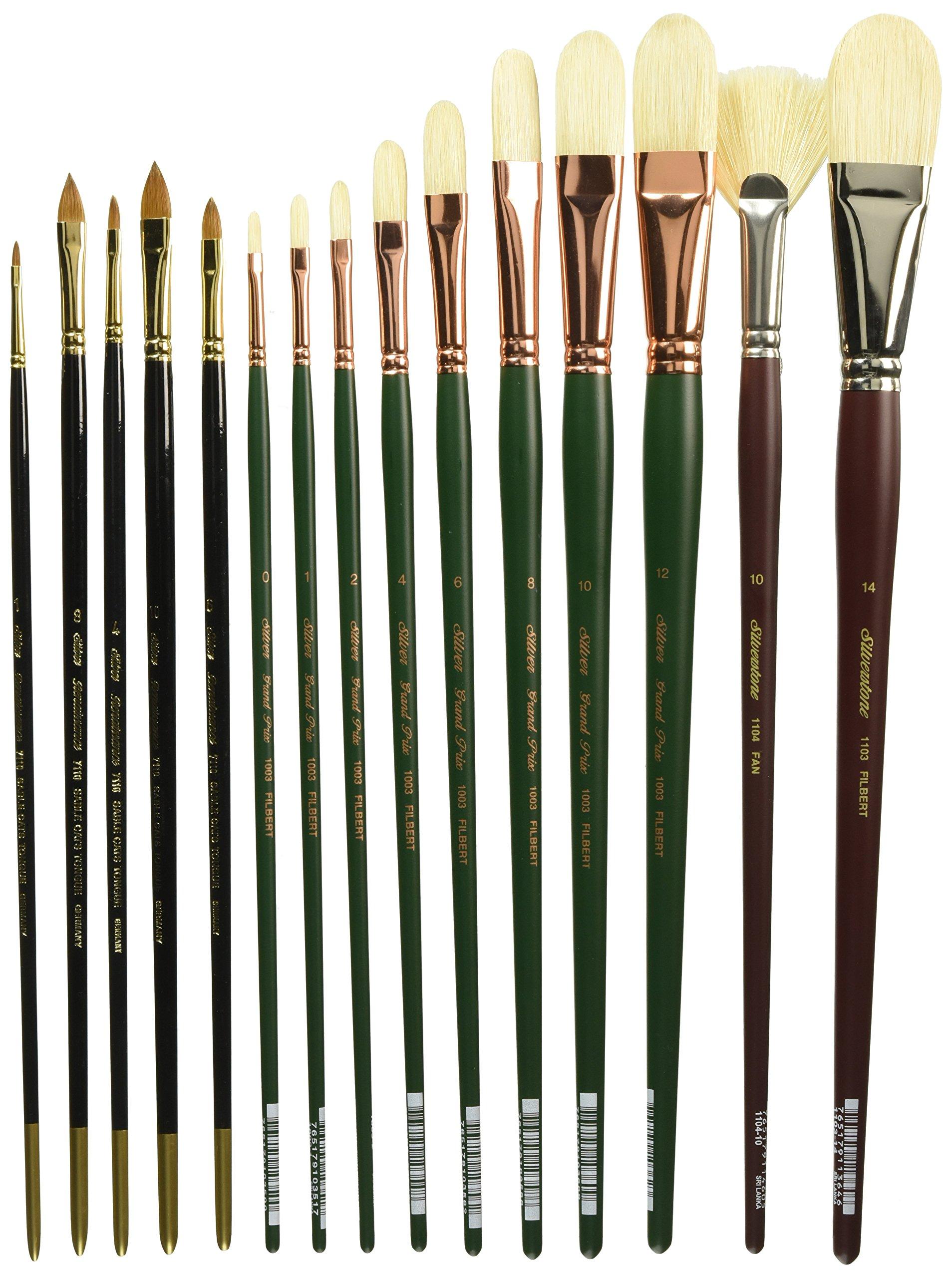 Silver Brush DG-7226 Daniel Greene NA Professional Brush Set, 20 Per Pack