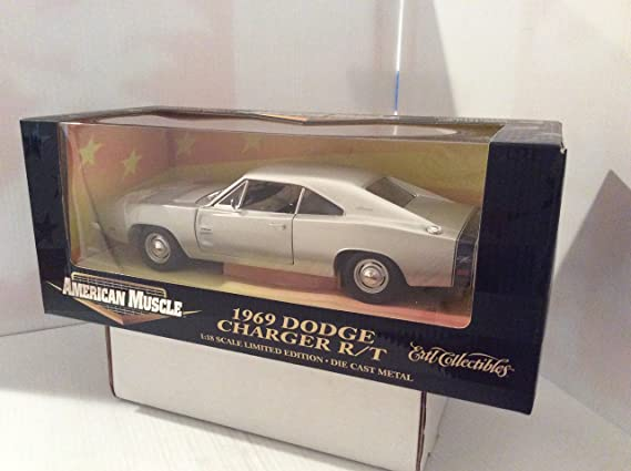: American Muscle 1969 Silver Dodge Charger RT
