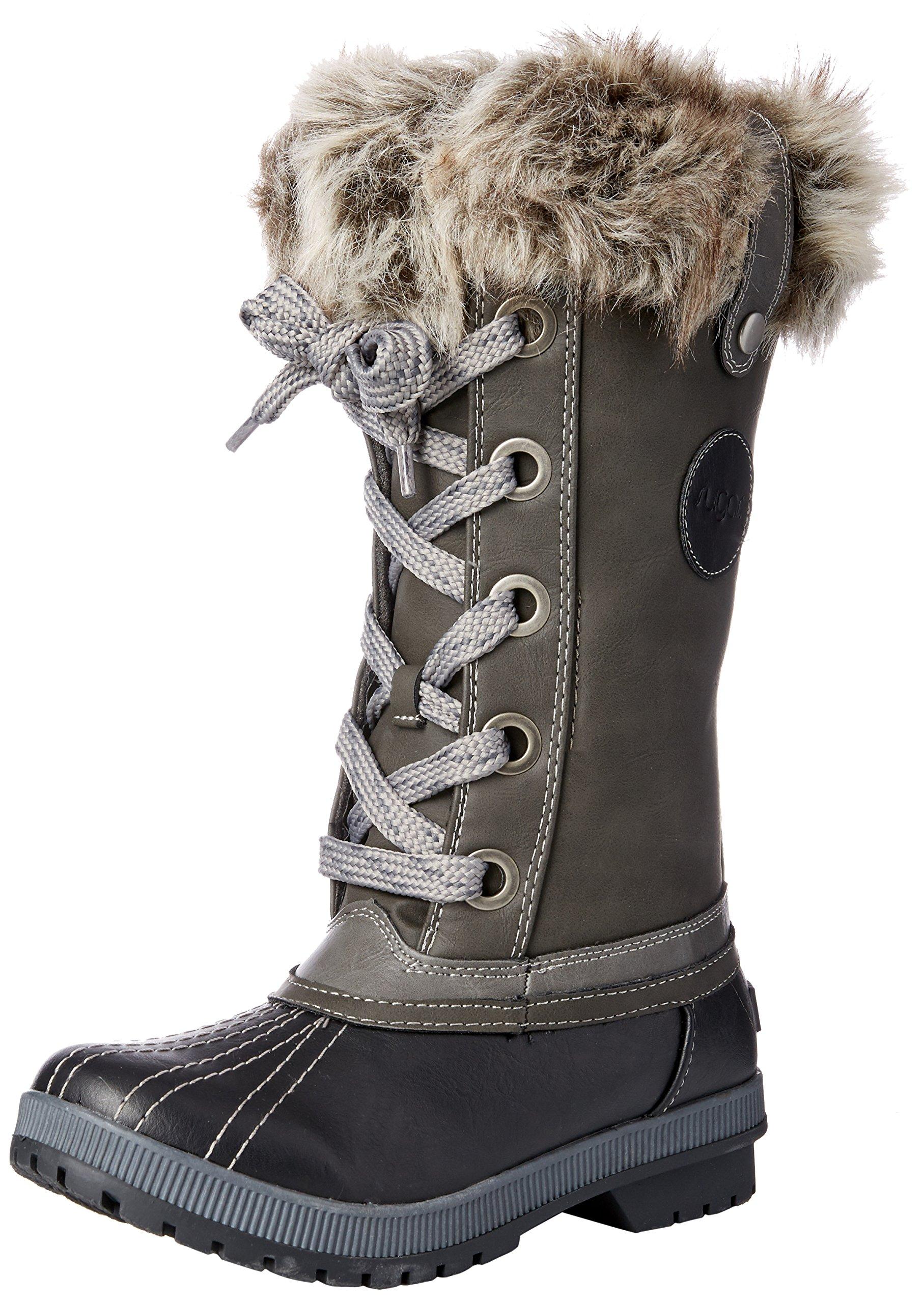 Sugar Women's SGR-Marlon Snow Boot, Black/Grey, 6 Medium US