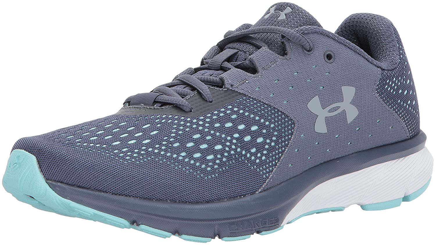 Under Armour Women's Charged Rebel Running Shoe B01MRWRBKX 9.5 M US|Apollo Gray (100)/Blue Infinity